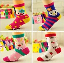 10pair/lot 2014 new arrival cartoon kids cotton baby socks / girls and boys children socks meias A47(China (Mainland))