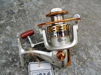 top brand spinning fishing reel 8bb 5000 series line capacity metal spool aluminum 2014 hot sale free shipping