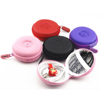 1Pcs Leathe Carrying Hard Hold Case Storage Bag Box for Earphone Headphone Earbuds SD Card Brand New