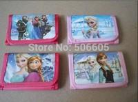 Free shipping 1200pcs/lot Frozen figure toy doll wallet purse for kids children students purse notecase burse