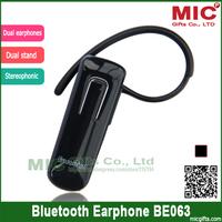 Wireless Bluetooth 3.0 Headset Earphones Headphone Handsfree Mobile Cell Phone Pad BE063