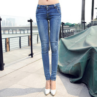 [] Brand women's jeans wholesale Korean version was thin pencil pants feet factory direct 8852