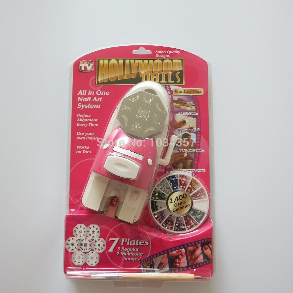 Free shipping DIY Nail Art Printing machine sets Stamping Nail art Kits(China (Mainland))