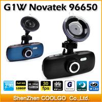 "100% Original Car Video Recorder G1W GS108 with Novatek 96650 + WDR Technology + AVC 1080P 30FPS + G-Sensor + 2.7"" LCD"