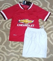 wholesale 2014-2015 best quality V.PERSIE 20 home red soccer jersey boy/youth/kids football uniforms soccer kit ROONEY 10