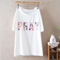 2014 summer new women short-sleeved lady girls cotton embroidery t-shirt 905