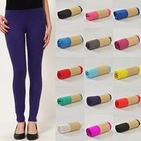 Solid Soft Stretch Long Leggings Cotton Modal Legging Candy Colors Leggins Casual Jeggings