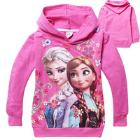 Girls Frozen T shirts 2014 Hottest Elsa&Anna Hoodie Shirts Children T shirts,Kids T-shirt,Full Sleeves Top Tees Wholesale
