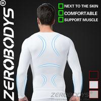 Fast Shipping ZEROBODYS Comfortable Mens Body Shaper Long Sleeve Undershirt 321 WH Fixgear Compression Skin Body Corrector Xxl