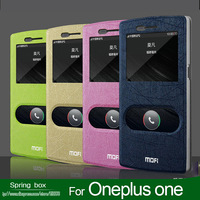 High Quality MOFI Fashion Series Leather Flip Hard Back  Cover Case For Oneplus one Free Gift