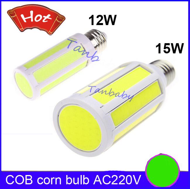 ulter bright COB led corn bulb 12W 15W white warm white led lamp E27 B22 E14 led cob light AC220V/AC110V(China (Mainland))