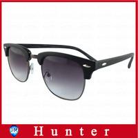 New 2014 Oculos De Sol Men Cat Eye Sunglasses Imitation Wood Frame Design Glasses Semi-Rimless Dark and Brown Lens ESWD2004