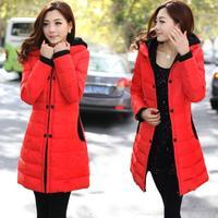Female winter women's outerwear medium-long cotton-padded jacket wadded jacket slim down cotton-padded jacket