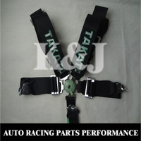 "K&J RACING -- Free Shipping Black Color 5 Point Snap-On 3"" Racing Seat Safety Belt Harness with Camlock(all belts have in stock)"