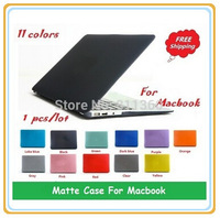 """Hot Colors Rubberized Fosted Matte Cover Case For Macbook All Models Air 11"""",13"""", Pro 13"""",15"""",New Retina, Wholesales,Free Ship"""