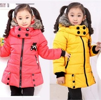 2014 Korean version of the new spring and winter children down coat girls coat free shipping