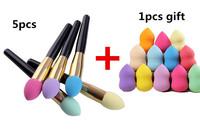 2014 New Cosmetic Makeup Brushes Set Liquid Cream Foundation Sponge Brush +1pcs Foundation Sponge Blender Gift