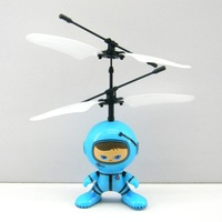 2014 New Remote Control Toys 2 Channel Infrared RC Helicopter Toys Hovering and Flying Robot Metal Blue Free Shipping