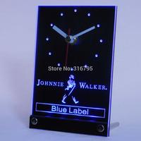 tnc0116 Johnnie Walker Blue Lable 3D LED Table Desk Clock