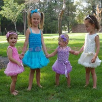 Retail Wholesale EMS DHL Free Shipping Girls Princess Halter Braces Balls tutus  Rosette Christmas Holiday Party Rompers Dress
