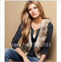 European Autumn Winter Faux Fur Women Vest Jacket Luxurious Short Shawl 2013 New Arrival Fashion Big Size Female Vest jackets