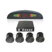 Guaranteed 100% Small Crescent Digital Reversing Radar Car Parking Sensor System LED Display Parking Sensor With 4 Sensors LD-03
