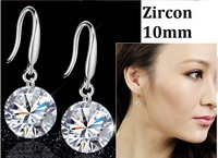 New Collection Silver Earrings 925 Elegant Earing Fashion Crystal High Quality For Women Girls Christmas Gifts No Min Order Y047