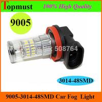 [Free Shipping 2pcs/lot ] 9005 3014  48SMD 10V-30V Pure White 6000k Fog led lamp  Car Fog LED Light