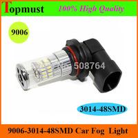 [Free Shipping 2pcs/lot ] 9012 3014  48SMD 10V-30V White Led Fog Lights Bulbs Super Bright White Car Fog Lamp led HB4 9006 led
