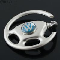 The steering wheel  4 s shop car male waist hanged Christmas model series Vw logo key ms key ring  Free shipping