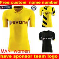 borussia dortmund jersey  14 15   Germany FC Borussia Dortmund Home Away  9# Lewandowski Gotze Soccer jersey REUS  jersey