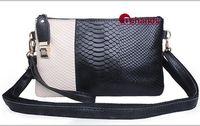 New Women Crocodile Shoulder Bags Casual Clutch Genuine Leather Handbag Women Panelled Purses Wristlets BH3118#  Free shipping