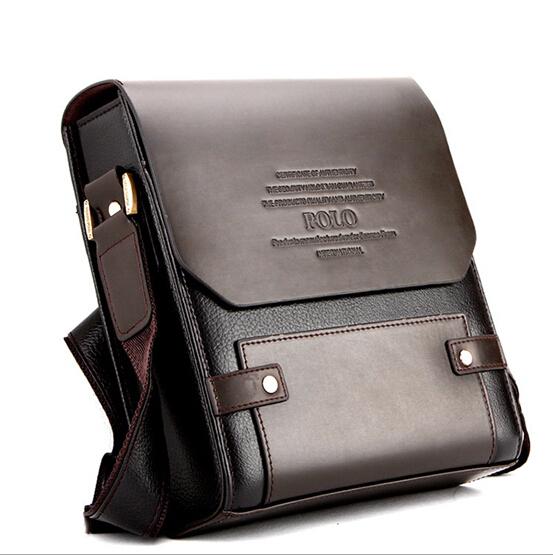brand new Top seller Leather Polo Men's handbags Messenger Briefcase Bags Men Shoulder Bag Laptop Bag (NSB-015)(China (Mainland))