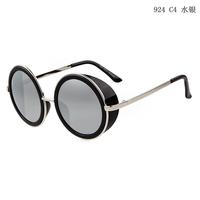 Sun Glasses Men 2014 New Fashion Mens Sunglasses Brand Designer Geek Vintage Round Metal Steampunk Goggles Lunette Oculos De Sol