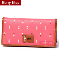 2014 NEW Women Brand Wallets fashion cartoon cute puppy women's long wallet PU leather Lady purse coin purse