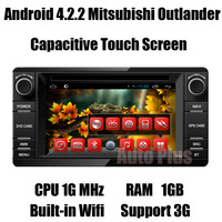 Android 4.2.2 Car PC for Mitsubishi Outlander 2013 +CPU 1G Mhz +RAM 1GB + iNand flash 8GB +Built-in Wifi Free shipping