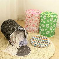 Household Dirty Clothes Laundry Bag Basket Clothing Storage Bucket Folding Storage Basket Debris Barrel Hamper Storage Box Bins