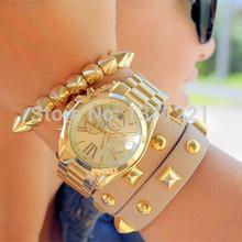Hot Relogio masculino 2015 marca de lujo casuales oro rosa relojes para mujeres hombres reloj de cuarzo de acero inoxidable envío gratis