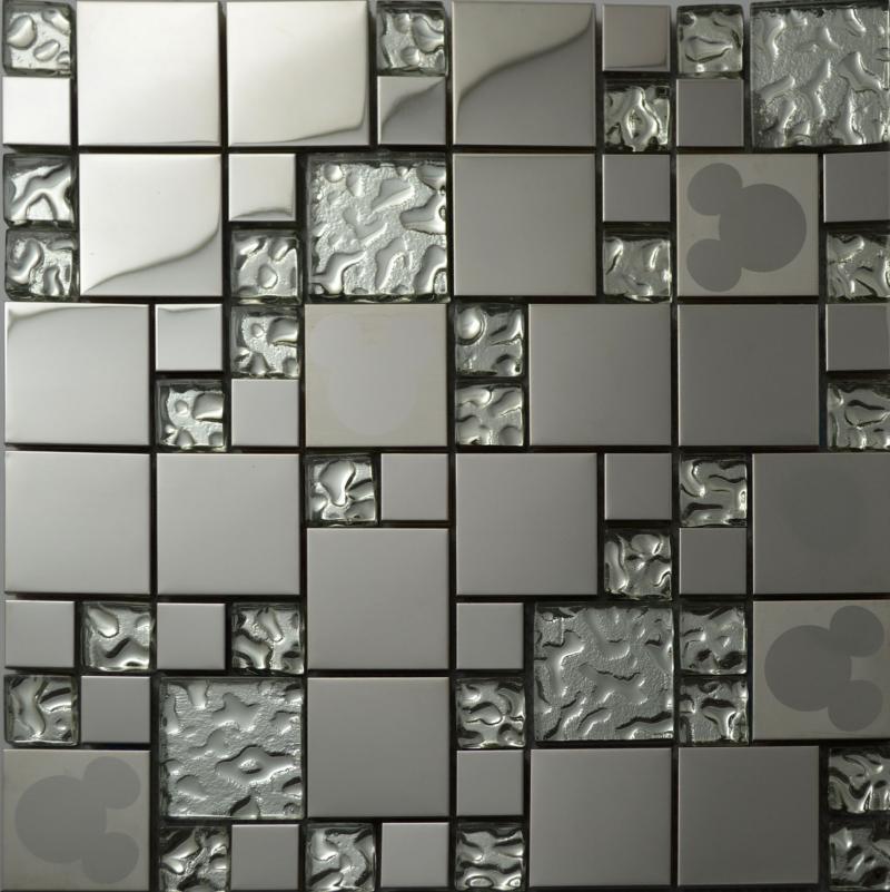 glass kitchen backsplash tile stainless steel glass mosaic tiles