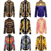 New Harajuku Brand Versa Blouse Men's Printing Shirts SWAG Medusa Religion Egypt Long Sleeve 3D Tops Shirts Free Shipping