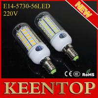 Ultra Brightness E14 Smd 5730 56Led Corn Lamp White Warm White Led Lamp New Arrival Ceiling Spotlight Pendant Solar Light 5Pcs