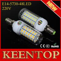 Hight Lumen Spotlight Ceiling Downlight 5730SMD Child 220V E14 Corn Bulbs 48Led Lamps 15W Pendant Wall  Led Lighting 1Pcs/Lot