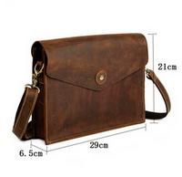 Men Messenger bags leather business single shoulder bag cowhide pressure crocodile leather vintage bags briefcase man bag 2015