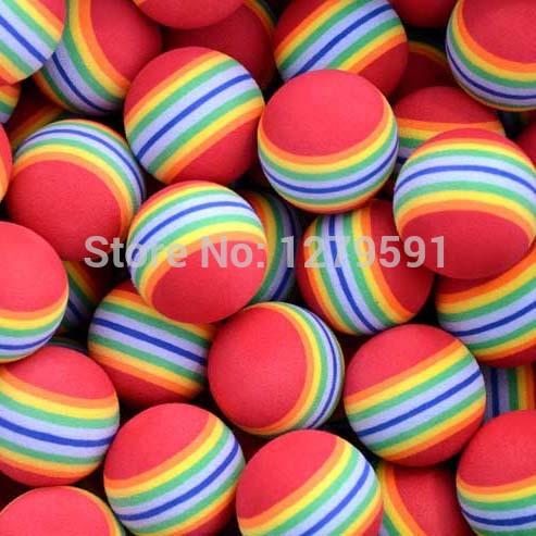free shipping 10pcs/lot Ferragamo Foam Golf Balls Rainbow Sponge Indoor Practice golf ball(China (Mainland))