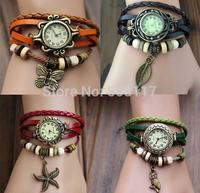 DHL free shipping to USA 120 pcs/lot  Hot  women dress watch leather bracelet wrist watch relogio masculino relogio feminino