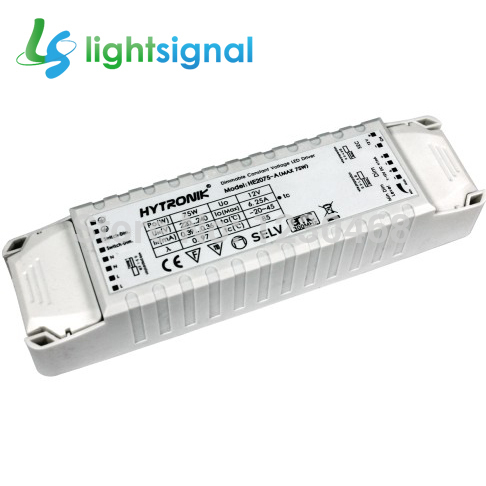 75W constant voltage dimmable LED driver 12v LED power supply 12v, 1~10v dimming and switch dimming(China (Mainland))