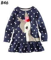 Retail Brand Children's Spring Autumn Long Sleeve T-shirt Girls Tees Baby Girl kids Cartoon Clothing Top 100% Cotton Famous