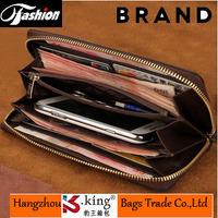 B.King 2014 Luxury Brand Diamond Plaid Business Real Leather Men Clutch Handbags , Unqiue Long Desigual Carteira Masculina