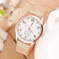 New Brand Women Wristwatch Steel Watch Women Quartz Watch 2014 Fashion Luxury Dress Watch Women Men Casual Watch Free Shipping