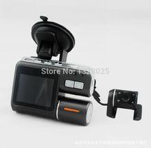 Бесплатный шопинг i1000 Автомобильный видеорегистратор ДОБАВИТЬ Micro SD Двойная камера HD 1080P тире Cam черный ящик с заднего 2 Cam автомобиля Посмотреть Dashboard фотокамеры
